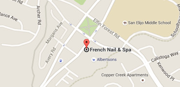 Map with French Nail and Spa Pinpoint