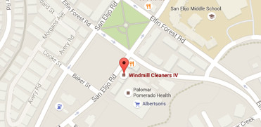 Map with Windmill Cleaners Pinpoint (1)