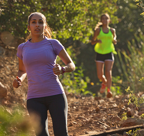 Two Sisters Running Through Hiking Trails - lifestyle-2