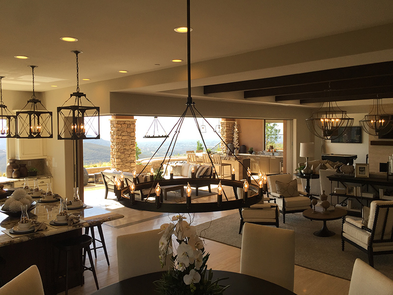 san elijo hills beautiful living room and dining room
