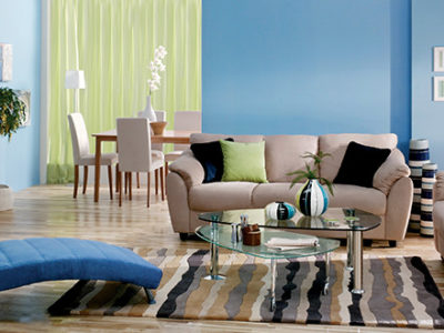 Beautifully decorated and furnished living room in San Elijo Hills