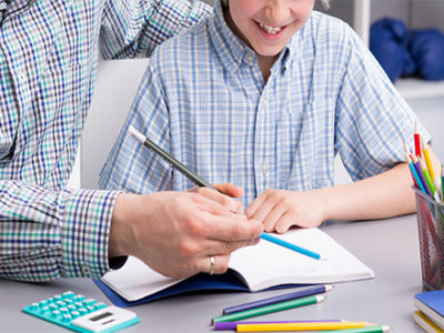 New-school-homework-done-by-father-and-son