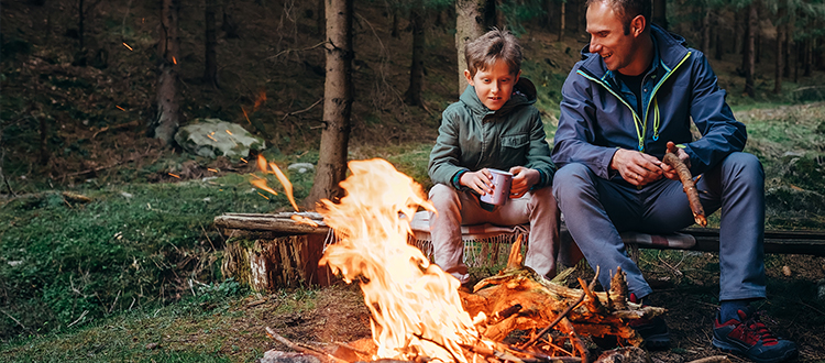 Father-and-son-bonding-outdoors